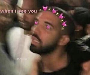 affection, Drake, and funny image