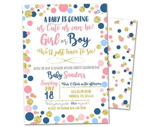 etsy, shower invitation, and gender reveal party image