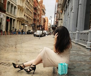brunette, heels, and nyc image