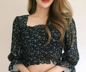 asian fashion, blouse, and crop image