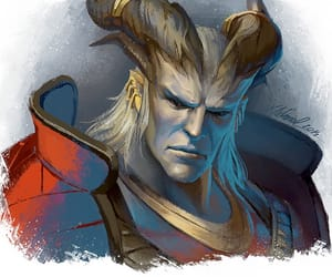dragon age, hawke, and qunari image