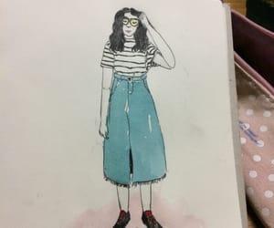 drawing, fashion, and korean image