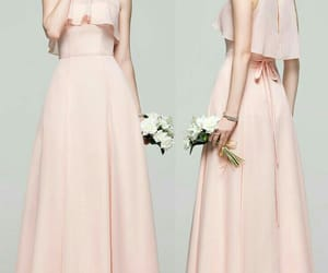 beautiful, bouquet, and outfit image