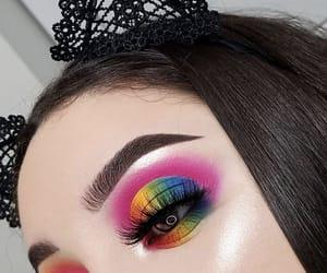 colorful, eyebrows, and eyelashes image