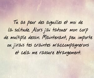 amour, quote, and tatouage image