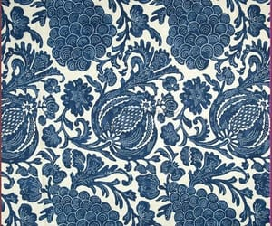 batik, blue and white, and floral image