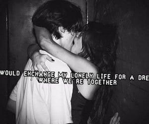 kissing, lovers, and Lyrics image