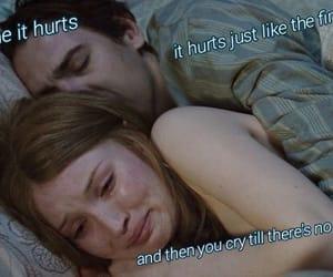 break up, hurt, and music image