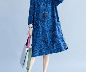 blue dress, etsy, and formal dress image