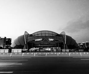 architecture, shenyang, and black and white image