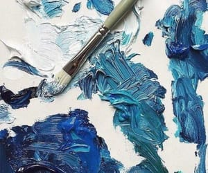 aesthetic, art, and blue paint image