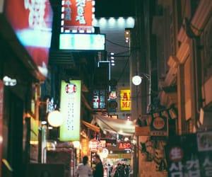 city, gente, and light image