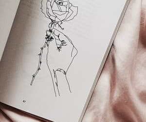 art, rose, and drawing image