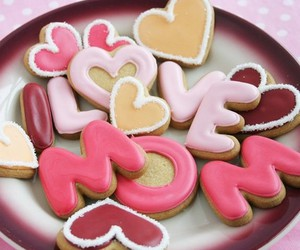 mom, Cookies, and pink image