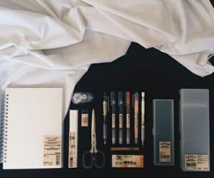 pen, notebook, and school image