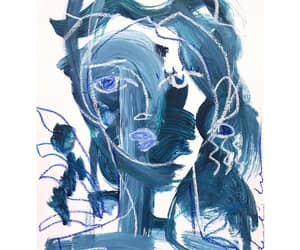 abtract, art, and blue image