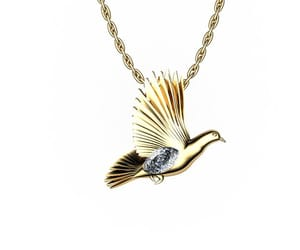 animal pendant, pendant jewelry, and wings pendant image