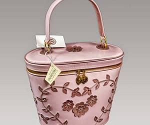 bag, fashion, and flower image