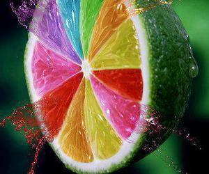 colors, lemon, and fruit image
