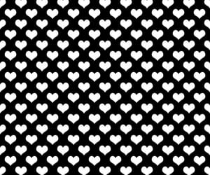 black, white, and heart image
