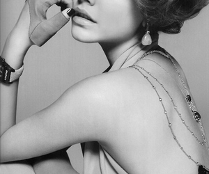 black and white, model, and fashion image