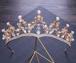 bridal jewelry, pearl, and rhinestone image