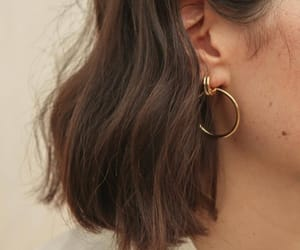 girl, hair, and earrings image