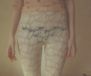 lace, skinny, and tights image