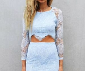 lace, sexy, and light blue image