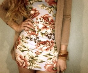 dress, fashion, and flower image
