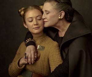 carrie fisher, star wars, and billie lourd image