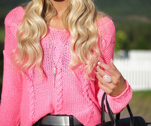 pink, fashion, and blonde image