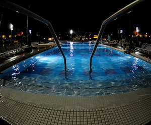 pool, water, and night image