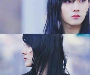black hair, korean, and ren image