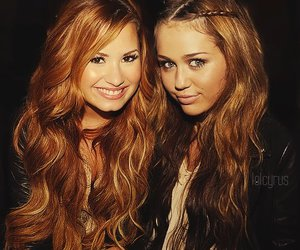 demi lovato, miley cyrus, and demi image