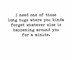 hug, quotes, and friends image