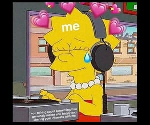 lisa, simpsons, and wholesome image