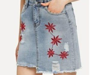 rojo, verano, and falda image