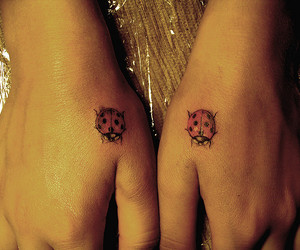 hands, ladybird, and tattoo image