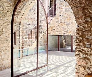 door, garden, and house image