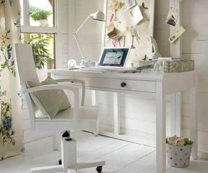 desk, office, and white image