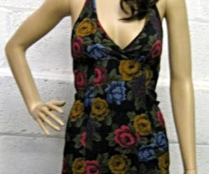 betsey johnson, floral dress, and vintage image