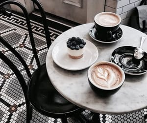 coffee, cake, and drink image