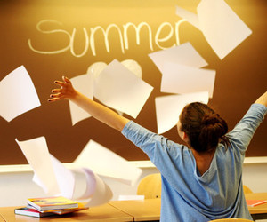 summer, school, and happy image