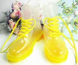 boot, shoes, and yellow image