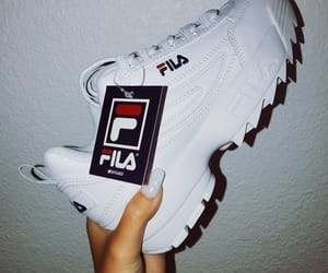 blue, Fila, and hypebeast image