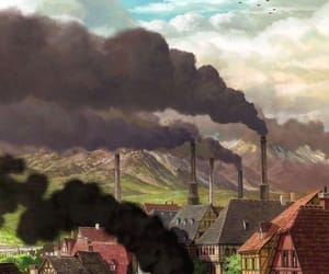 wallpaper, anime, and howl's moving castle image