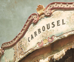 carrousel, vintage, and carousel image