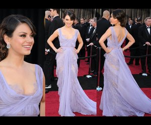 dress, Mila Kunis, and beauty image