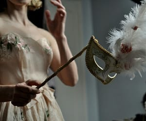 mask, aesthetic, and dress image